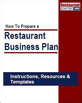 3 Restaurant Business Plan Template - Free Templates in